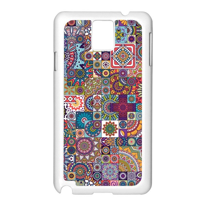 Ornamental Mosaic Background Samsung Galaxy Note 3 N9005 Case (White)