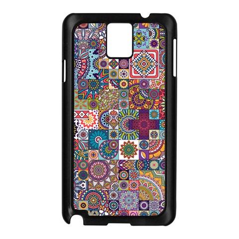 Ornamental Mosaic Background Samsung Galaxy Note 3 N9005 Case (Black)