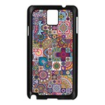 Ornamental Mosaic Background Samsung Galaxy Note 3 N9005 Case (Black) Front