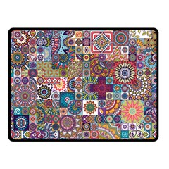 Ornamental Mosaic Background Double Sided Fleece Blanket (small)