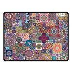 Ornamental Mosaic Background Double Sided Fleece Blanket (Small)  45 x34 Blanket Back