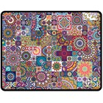 Ornamental Mosaic Background Double Sided Fleece Blanket (Medium)  60 x50 Blanket Back