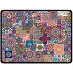 Ornamental Mosaic Background Double Sided Fleece Blanket (Large)  80 x60 Blanket Back