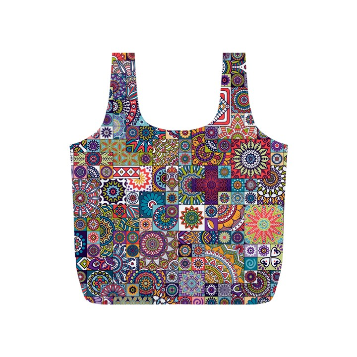 Ornamental Mosaic Background Full Print Recycle Bags (S)