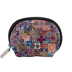 Ornamental Mosaic Background Accessory Pouches (Small)  Front