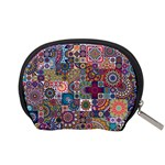 Ornamental Mosaic Background Accessory Pouches (Small)  Back
