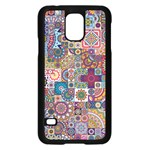 Ornamental Mosaic Background Samsung Galaxy S5 Case (Black) Front