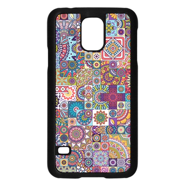 Ornamental Mosaic Background Samsung Galaxy S5 Case (Black)