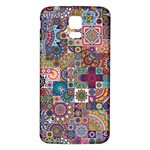 Ornamental Mosaic Background Samsung Galaxy S5 Back Case (White) Front
