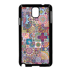 Ornamental Mosaic Background Samsung Galaxy Note 3 Neo Hardshell Case (black)