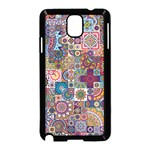 Ornamental Mosaic Background Samsung Galaxy Note 3 Neo Hardshell Case (Black) Front