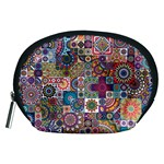 Ornamental Mosaic Background Accessory Pouches (Medium)  Front