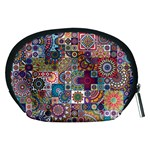 Ornamental Mosaic Background Accessory Pouches (Medium)  Back