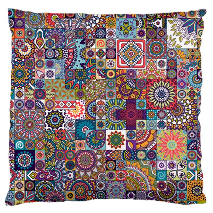 Ornamental Mosaic Background Standard Flano Cushion Case (One Side)