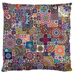 Ornamental Mosaic Background Large Flano Cushion Case (Two Sides) Back