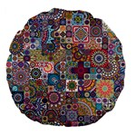 Ornamental Mosaic Background Large 18  Premium Flano Round Cushions Front