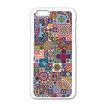 Ornamental Mosaic Background Apple iPhone 6/6S White Enamel Case Front