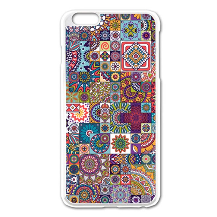 Ornamental Mosaic Background Apple iPhone 6 Plus/6S Plus Enamel White Case