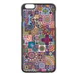Ornamental Mosaic Background Apple iPhone 6 Plus/6S Plus Black Enamel Case Front