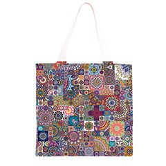 Ornamental Mosaic Background Grocery Light Tote Bag