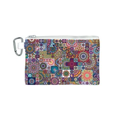 Ornamental Mosaic Background Canvas Cosmetic Bag (S)