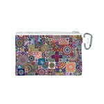 Ornamental Mosaic Background Canvas Cosmetic Bag (S) Back