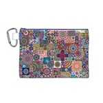 Ornamental Mosaic Background Canvas Cosmetic Bag (M) Front