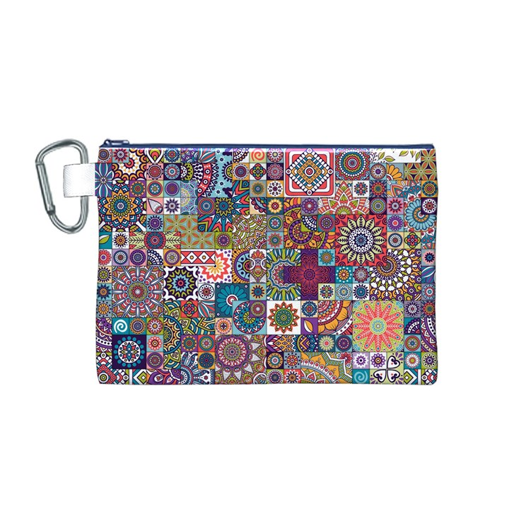 Ornamental Mosaic Background Canvas Cosmetic Bag (M)
