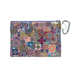 Ornamental Mosaic Background Canvas Cosmetic Bag (M) Back