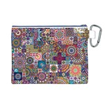 Ornamental Mosaic Background Canvas Cosmetic Bag (L) Back