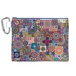 Ornamental Mosaic Background Canvas Cosmetic Bag (XL) Front