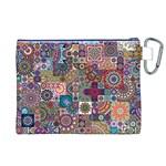 Ornamental Mosaic Background Canvas Cosmetic Bag (XL) Back