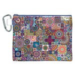 Ornamental Mosaic Background Canvas Cosmetic Bag (XXL) Front