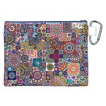 Ornamental Mosaic Background Canvas Cosmetic Bag (XXL) Back