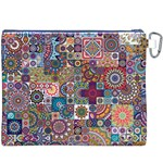 Ornamental Mosaic Background Canvas Cosmetic Bag (XXXL) Back