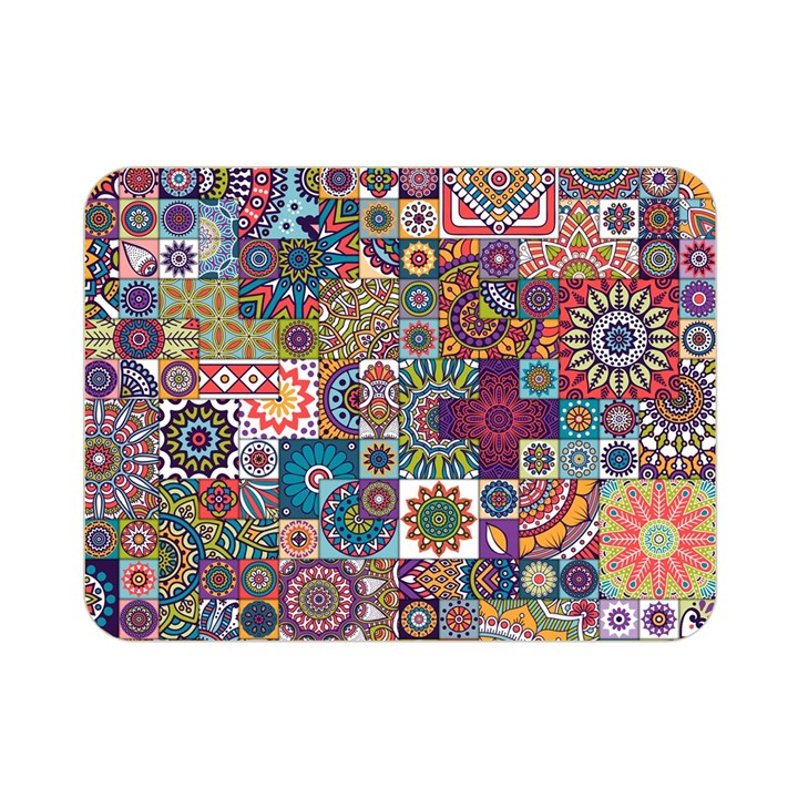 Ornamental Mosaic Background Double Sided Flano Blanket (Mini)