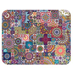 Ornamental Mosaic Background Double Sided Flano Blanket (medium)