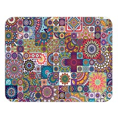 Ornamental Mosaic Background Double Sided Flano Blanket (Large)