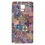 Ornamental Mosaic Background Galaxy Note 4 Back Case Front