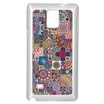 Ornamental Mosaic Background Samsung Galaxy Note 4 Case (White) Front