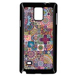Ornamental Mosaic Background Samsung Galaxy Note 4 Case (Black) Front