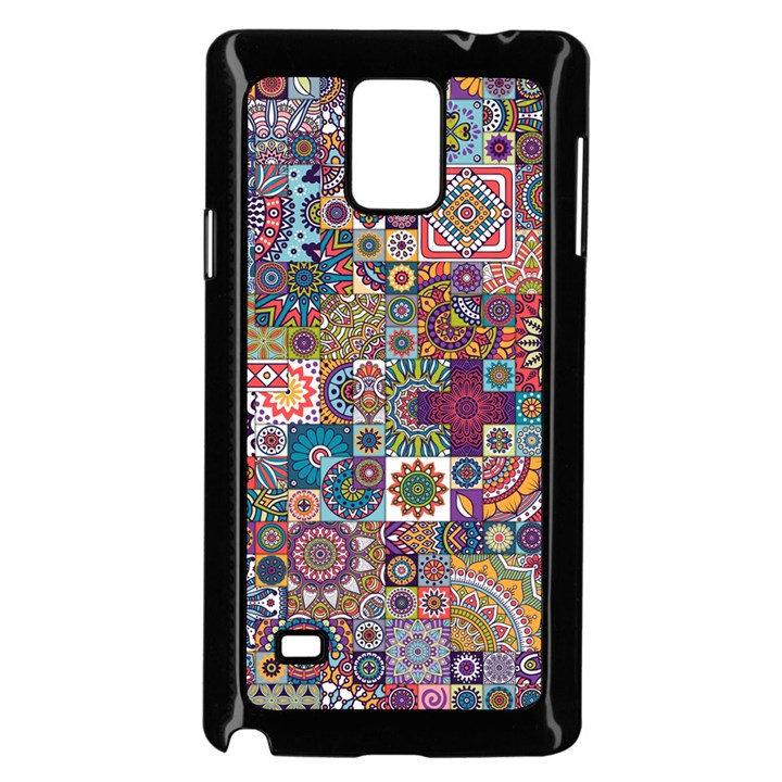 Ornamental Mosaic Background Samsung Galaxy Note 4 Case (Black)