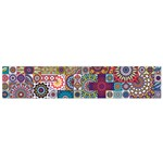 Ornamental Mosaic Background Flano Scarf (Small) Back
