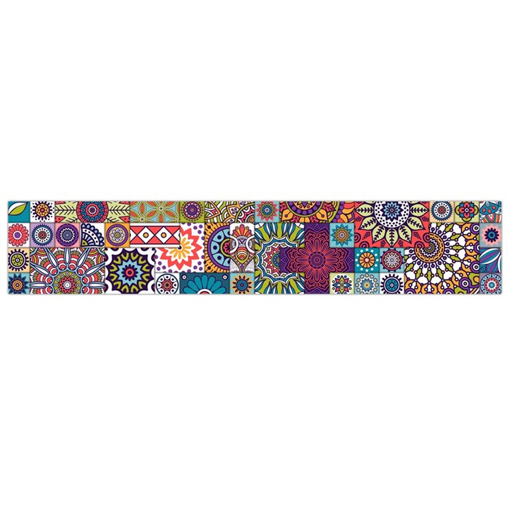 Ornamental Mosaic Background Flano Scarf (Large)