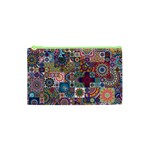 Ornamental Mosaic Background Cosmetic Bag (XS) Front