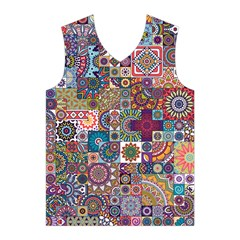Ornamental Mosaic Background Men s Basketball Tank Top