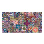 Ornamental Mosaic Background Satin Shawl Front