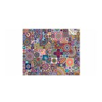 Ornamental Mosaic Background Satin Wrap Front