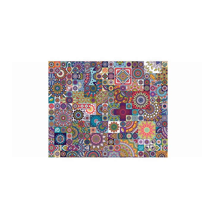 Ornamental Mosaic Background Satin Wrap
