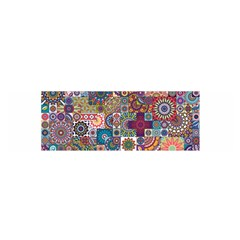 Ornamental Mosaic Background Satin Scarf (Oblong)